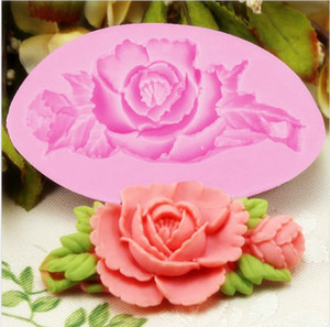 Wholesale New Cooking Tools Cake Tools Rose Silicone Fondant Cake Chocolate Mold Craft Decorating Tools Mould TY1911