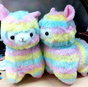 Wholesale 17cm Rainbow Alpaca Japan Alpacasso Arpakasso Plush Stuffed Doll Kids Alpaca Christmas Gifts Toy pc