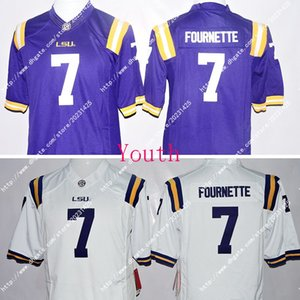 Wholesale Newest NWT LSU Tigers Odell Beckham JR Leonard Fournette Kids Youth Limited Jersey Embroidery Logos Stitched Jerseys Uniforms