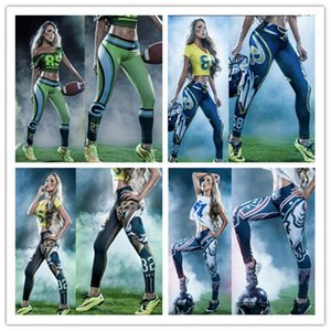 Wholesale Women Stretch outer wear training pants football baseball jogging pants tennis leopard No White Wolf football sports pants