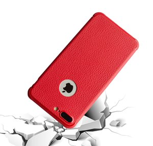 Wholesale High Quality Leather lines Phone Case for iPhone S Plus X Shockproof Anti fingerprint Soft TPU Case With Air Cushion