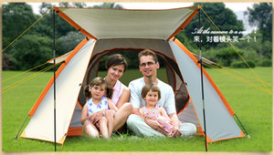 Wholesale hydraulic double resale online - fast shipping Tent Opening Hydraulic Automatic Tent Camping Shelters Waterproof Sunny Double deck Protective Outdoors Tents for Person