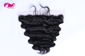 100% Unprocessed Brazilian Hair body wave 13X4 Lace Frontal Free Style 1b color lace front free shipping by DHL on Sale