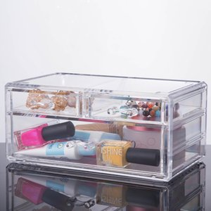 2019 New high quality factory makeup box organizer acrylic storage clear cosmetic cases YOUR BEST CHOICE on Sale
