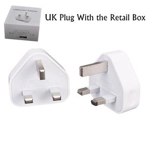 Wholesale USB V A Wall Charger pin UK Plug AC Power Adapter Home Charger Universal for Smartphone for tablet PC