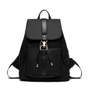 Wholesale Women Backpack Vintage Oxford laptop Backpacks Drawstring Black Shoulder Bags For Teenage Girls School Bag
