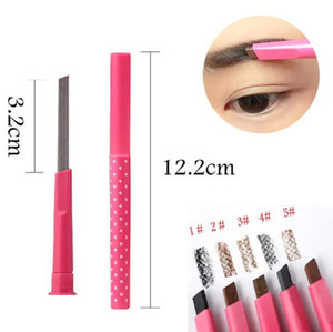 ingrosso eyeliner a lunga durata-Pro Ladies Waterproof Longlasting Brown Sopracciglio Matita Brow Eyeliner Penna Trucco Cosmetico Strumenti di bellezza maquillage Drop Shipping