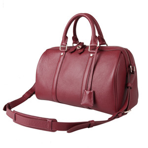 Wholesale europe pillow resale online - The new fashion in Europe and Boston real genuine leather handbags leather bag shoulder diagonal pillow bag