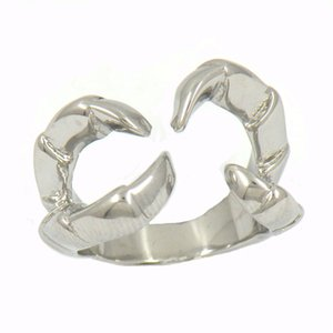 Wholesale crab rings for sale - Group buy FANSSTEEL STAINLESS STEEL mens or womens punk vintage jewelry CRAB CLAW RING BIKER RING GIFT W75