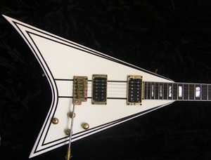 Jack son Custom Shop Exclusive Randy Rhoads RR 1.5 Electric Guitar Cream with Black Pinstripe Gold Hardware Block MOP Fingerboard Inlay