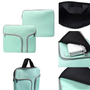 Zipper Liner Sleeve Bag Cover Case with Double Pockets For ALL Laptop 11inch 13 inch 15 inch Macbook Air Document handbag OPP BAG