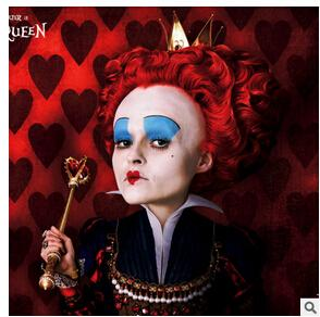 Wholesale Xiu Zhi Mei Hot Sale Short Curly Red Cosplay Full Wig Ladies Cosplay wig Alice in Wonderland Queen of Hearts The Red Queen