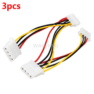 Wholesale Pin Molex Male to port Molex IDE Female Power Supply Splitter Adapter Cable Computer Power Cable Connector HY1264