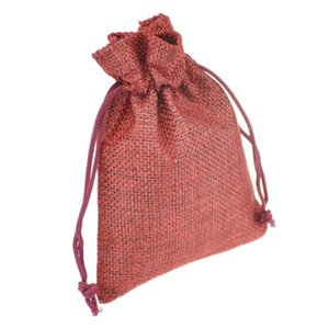 Wholesale 9x12cm Handmade Jute Bag Burlap Bag Gift Bag Linen Gift Bag Wedding Favor Pouches Drawstring Pouches Small Jewelry bags