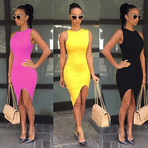 Wholesale- 2016 Super hot Sexy Women Summer Casual Sleeveless Party Cocktail Short Mini Dress Fashion Vestidos