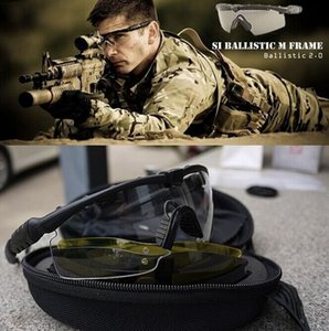 new Si Bal M Frame 2.0 3 lenses tactical goggles windproof mirror Shooting men women sunglasses bicycle cycling eyewear