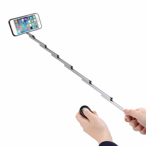 Wholesale 3 in 1 Selfie Stick w  Aluminum Cover For Iphone 8 7 6s Plus Foldable selfie With Case & Bluetooth Remote Shutter For Iphone 6S 6 7 8