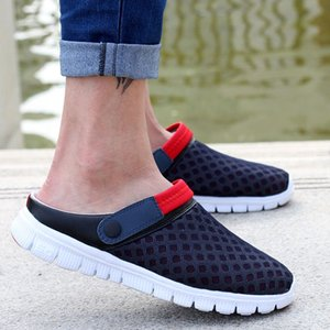 Wholesale New Arrival Men s Casual Breathable Fashion Sandals Slippers Male Half Empty Nest Beach Shoes Three Colors Available