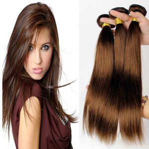 cheveux brun chocolat achat en gros de-news_sitemap_homeGrade A Malaysian Chocolate Brown Straight Hair Brun Clair Extensions de Cheveux Humains Couleur Brun Moyen Silky Straight Hair Bundle