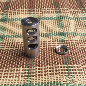 Bokey Sports Stainless Steel 5 8x24 1 2-28 Thread .223 .308 Competition Muzzle Brake,Free Stainless Washer