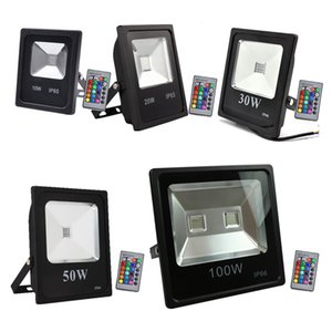 Wholesale Outdoor Flood Lighting W W W W W RGB Led lights IP65 Waterproof Led Flood Light Outdoor wall lamp AC V