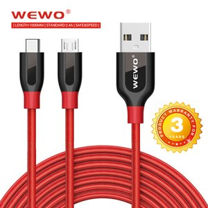 Wholesale Wewo Type C Cables in data transmit and Charging Cable with Retail Packaging Fast Charging Nylon Usb Cable for phone