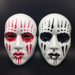 Wholesale joey mask resale online - Free Size Halloween Party Accessories Movie Theme Scary Face Mask Slipknot Joey Band Plastic Halloween Masks Black Red Color