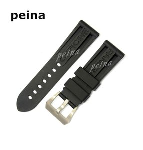 Wholesale 22mm mm MAN NEW Top Grade Black Diving Silicone Rubber Watch BANDS Strap FOR PANERAI BANDS