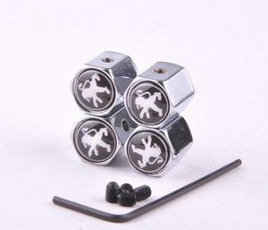 Silver 4PCS Lot Anti Theft Car Wheel Tire Valve Caps Covers For Peugeot 206 207 301 306 307 308 406 407 408 508 607 2008 3008 4008 5008