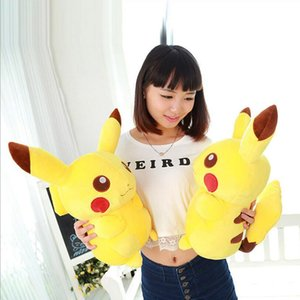 Wholesale 45cm quot Hot Sale Anime Christmas Toys Pikachu Kids Adult Toy Plush Yellow Lovely Pikachu Birthday Gifts