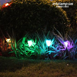 Wholesale The colorful light sensing solar lights LED solar seven lights outdoor patio bar lamp night light idea