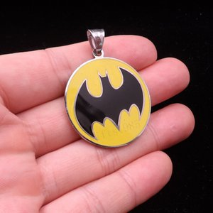 Wholesale stainless steel batman pendants for sale - Group buy NEW Batman stainless steel fashion Twiztid Pendant ball necklace ship free
