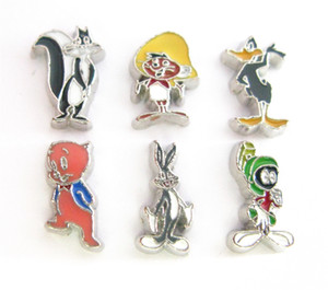Wholesale New design mixed styles hot sale anilmals floating locket charms animal Cartoon characters for Living memory floating locket