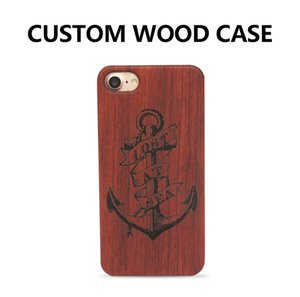Wholesale Hot Selling Solid Wooden Case for iPhone s Plus Customize Name and Pattern Design Case