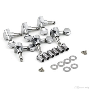 Wholesale 6R Right 6L Left 3L+3R String Tuning Pegs Tuners Tuner Chrome Inline Guitar Machine Head 6R Right