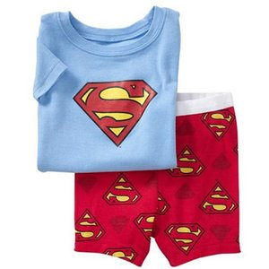 Drop Shipping 2017 New Cartoon clothes baby boy clothes cotton pajamas set branch costume 2 piece nightgown set SP26
