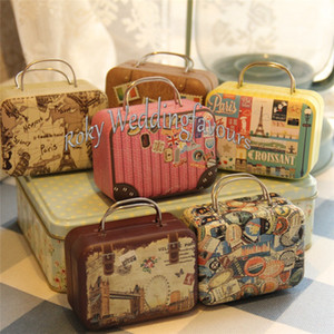 Wholesale rectangle tin boxes resale online - Rectangle Handbag Shaped Favor Tin Boxes Candy Boxes Party Favors Tin Boxes Table Setting Decor Supplies