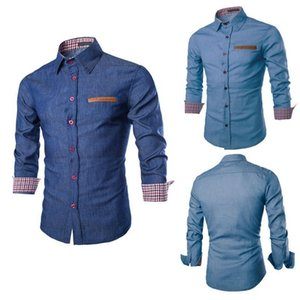 Wholesale WHATWEARS men's Tops,Long Sleeved Shirts,Button-up Shirts,button down shirt,Casual Shirts,Blouses,Crop Tops,Square Necked Tops,Polos,Collar