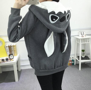 Wholesale Autumn Winter New Girls School Cartoon Cute Sweater Wild Korean Fleece Jacket Plus Size Woemen Hoodie Jacket