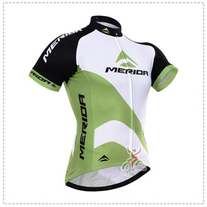 Wholesale 2015 MERIDA WHITE GREEN ONLY SHORT SLEEVE ROPA CICLISMO SHIRT CYCLING JERSEY CYCLING WEAR SIZE XS XL