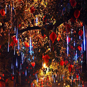 Wholesale CM CM LED Waterproof Meteor Shower String Light Rain Tube Hanging Outdoor Christmas Light Wedding Party Garden Xmas String
