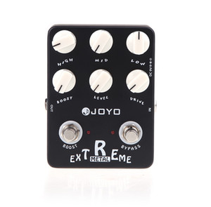 Wholesale pedal guitarra for sale - Group buy Black JOYO JF Guitarra Violao Guitar Effect Pedal Parts Extreme Metal Distortion for Musical Instrument Electronic New