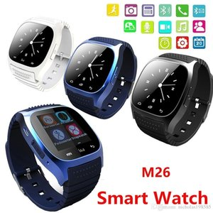 Wholesale Bluetooth Smart Watches M26 Wrist Watch For iPhone Samsung HTC Android Phone Health Smartwatch Best Sale VS U8 DZ09 GT08 A1 Apple Watch