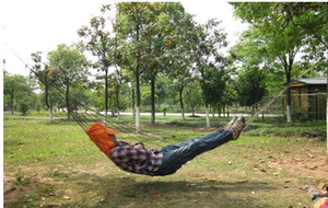 Wholesale Portable Hanging hammock Canvas Camping Hunting Hammock kids adult hammocks mesh fabric swing Mesh bed