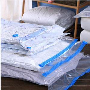 Wholesale Vacuum Transparent Compression Bag Thickening Clothing Quilts Large Capacity Finishing Bag Vacuum Folding Storage Bag