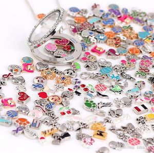 New zinc alloy necklace pendant phase box floating locket charms jewelry accessories mixed batch 4035