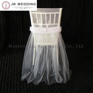 50pcs 2style Wedding Dress Fancy Organza Chair Cup And Tutu Lace Chair Cap Colorful Chiavari Chair Cover Decora
