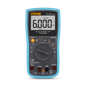 Wholesale Zotek vc15b+automatic range digital multimeter for large screen LCD display, true RMS, frequency, duty cycle, 6000 word display