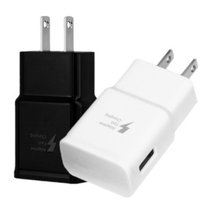 Wholesale Fast Adaptive Wall Charger V A USB Wall Charger Power Adapter For Samsung Galaxy S6 s8 S10 Note htc Android phone pc mp3