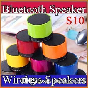 Wholesale S10 Bluetooth Speaker Outdoor Speakers Handfree Mic Stereo Portable Speakers TF Card Call Function DHL No Logo Retail Box B YX
